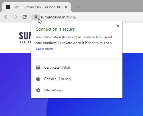 Free ssl example